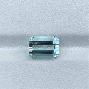 Natural Untreated Blue Aquamarine 3.89 Cts Emerald Cut