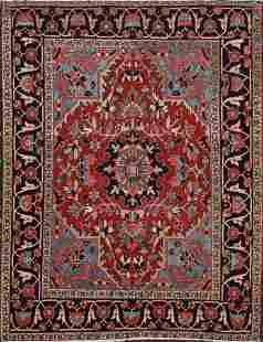 100% Vegetable Dye Antique Heriz Serapi Persian Area