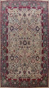 Antique Silk Vegetable Dye Tehran Persian Area Rug