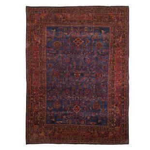 Old Persian Kashan Good Cond Slight Wear Soft 300 KPSI