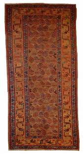 Handmade antique Persian Kurdish rug 4.1' x 7.6' (