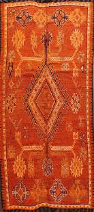 Antique Moroccan Vegetable Dye Oriental Area Rug 5x10
