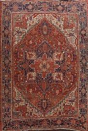 Pre-1900 Antique Vegetable Dye Heriz Serapi Persian