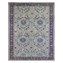 Old Persian Mahal Good Condition Large Rosette Design