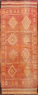 Antique Moroccan Oriental Runner Rug 5x12