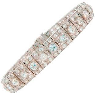 Art Deco Diamond Platinum Bracelet 1910s