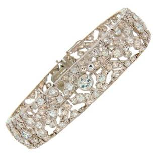 1920s Fontana Art Deco Diamond Platinum Bracelet