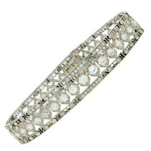 Art Deco Tiffany & Co. Diamond Platinum Bracelet