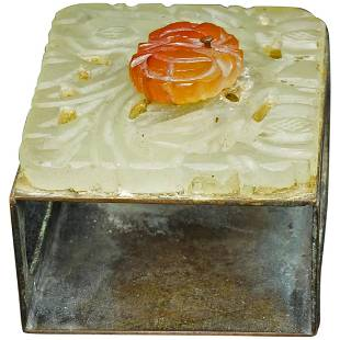 Chinese Republic Period Carved Carnelian and Hardstone