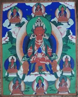Antique thangka - Buddha Amitayus