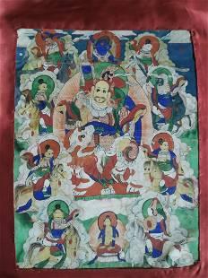 Antique Thangka - Kubera