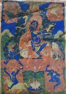 Antique Thangka- Palden Lhamo