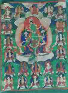 Antique thangka - Syamatara