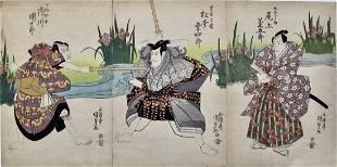 Kunisada: Early Actor Triptych