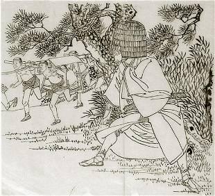 Toshikata, Mizuno: The ambush