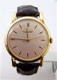 18k Yellow Gold IWC SHAFFHAUSEN Winding Watch 36.5mm