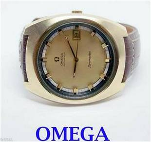 Gold color OMEGA SEAMASTER Automatic Watch c.1970s