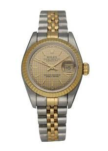 Rolex Datejust 69173 Honeycomb Dial Ladies Watch