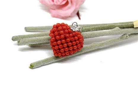 Heart Shape Pendant, Round Beads Pendant, 925 Sterling