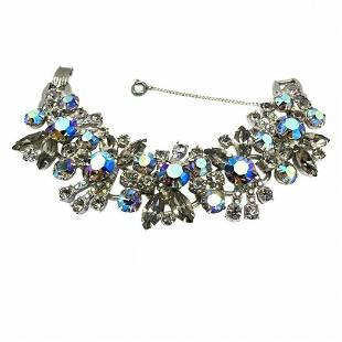 D&E Juliana Smoky and Blue Rhinestones Bracelet