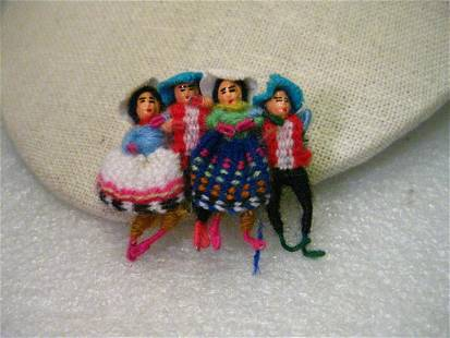Vintage Hand Made Ethic Wool Woven & Wrapped Doll