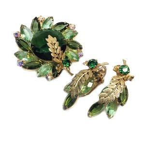D&E Juliana Green Set with Palm Leaf