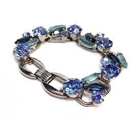 D&E Juliana Blue Cluster Bracelet