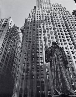 BERENICE ABBOTT - The John Watts Statue