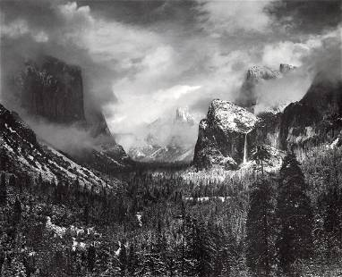 ANSEL ADAMS - Clearing Winter Storm, Yosemite, 1944