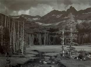 ANSEL ADAMS - Peaks and Meadows, Yosemite, 1943