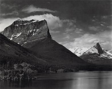 ANSEL ADAMS - Saint Mary's Lake, Glacier Park, 1942