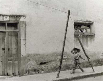 MANUEL ALVAREZ BRAVO - Boy in a Triangle, 1950s