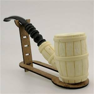 Wine Barrel Meerschaum Pipe