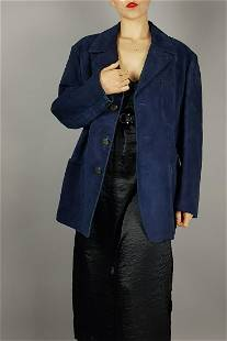 DYED BLUE SUEDE JACKET