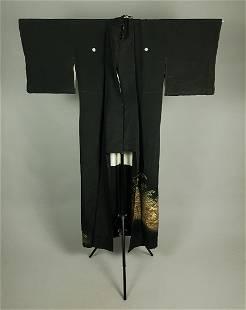 BLACK SILK KIMONO