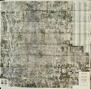 1922 Photomap Co Aerial Map of Pasadena -- Aerial