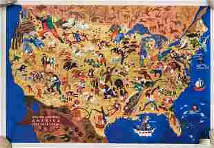 1946 Gropper Map of American Folklore -- William