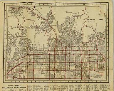 1930 Map of Hollywood, California -- Security-First