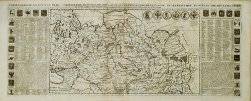 1719 Chatelain Map of Russia -- Carte Generale des