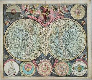 1730-45 Seutter Celestial Chart -- Planisphaerium