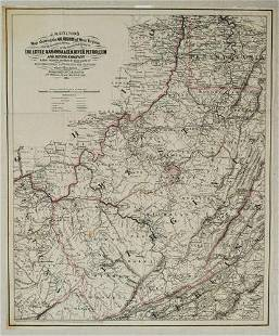 1865 Colton's Map of Oil Regions of West Virginia --