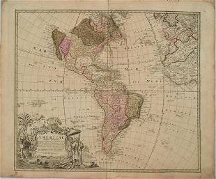 1746 Homann Map of the Americas -- Americae Mappa