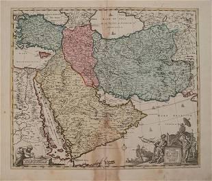 1792 Elwe Map of the Arabian Peninsula and Persia --