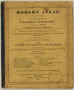 1831 Woodbridge School Atlas -- Modern School Atlas on