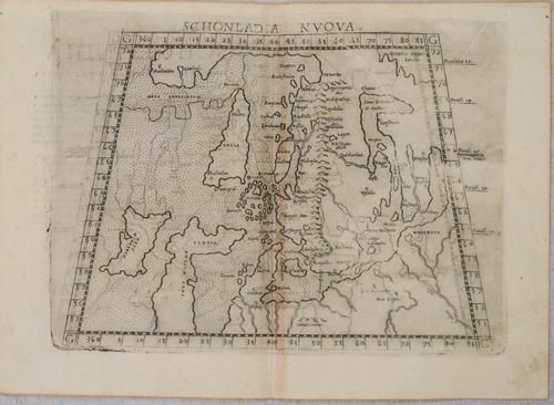 1574 Ruscelli Map of Scandinavia and Northern Europe --