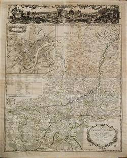 1760 Maire/Leclerk Map of Eastern Belgium and Liege --