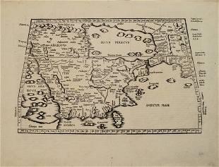 1541 Fries Map of Arabian Peninsula -- Tabula Sexta