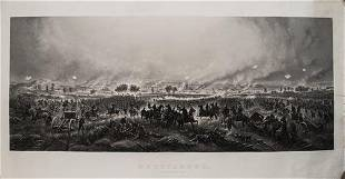 1876 Bachelder View of Pickett's Charge at Gettysburg