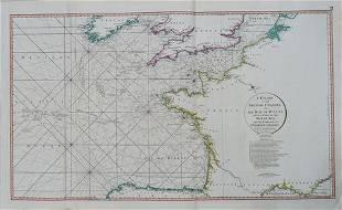1794 de la Rochette Map of the English Channel and Bay