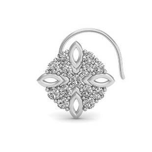 1.40 Ct Round White Diamond 18K Gold Earrings For Women